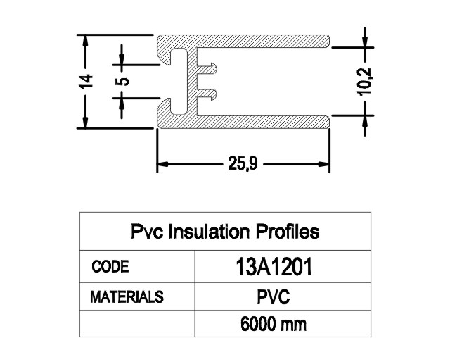 PVC Insulate Profile 1
